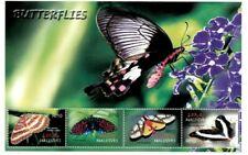 Modern Gems - Maldives - Butterflies - Sheet Of 4 - Mnh