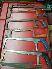 Lot of 7 Antique, Vintage, Modern Hack Saw Lot Craftsman Goodell Etc.