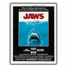 JAWS 1975 METAL SIGN WALL PLAQUE Retro Film Movie Advert poster print decor
