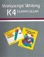 A Beka Homeschool K4 Manuscript Writing Curriculum