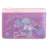 Sanrio Little Twin Stars 10.7cm(W) x 7.4cm(H) Two Layers Card Holder 9-7143-10