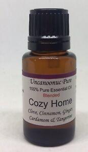 Cozy Home 100% Pure Essential Oil 15ml Clove Cinnamon Ginger Cardamon Tangerine
