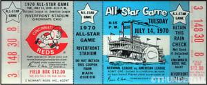 1 1970 ALL-STAR GAME VINTAGE UNUSED FULL TICKET BASEBALL reproduction laminated!