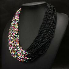 Handmade Multi coloured African Bead statement necklace jewellery Ladies Costume