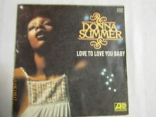 Vinyle 45 tours Donna Summer Love you love you baby (45t61)