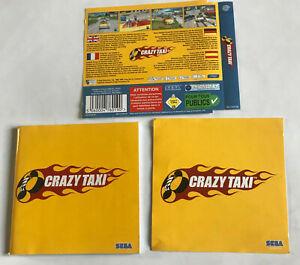Crazy Taxi / Sega Dreamcast / NO DISC / MANUAL & INLAYS ONLY