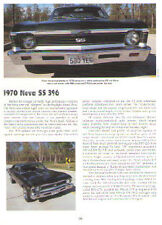 1970 Chevy Nova SS 396 Article - Must See !!