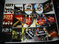 KISS LOT (3) KISSOLOGY BOX SETS.9 DISC'S NO STICKER/PASS VOL 2 DOES NOT HAVE BOX