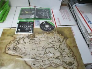 XBOX ONE THE ELDER SCROLLS V SKYRIM SPECIAL EDITION GAME MANUAL MAP & CASE