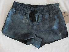True Religion Women`s Pewter Metallic Leather Running Short XS