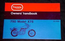 1973 Triumph Trident 750, X75, Hurricane, OEM, Brown Wrap, OWNERS Handbook, F/SH