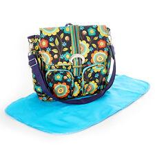 New Women's Kalencom Floral Stitches Diaper Backpack Set