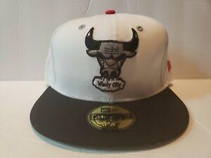 New Era Custom Chicago Bull's Fitted Hat Cap Retro Retro 13 Atmosphere