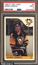 1985 O-Pee-Chee OPC Hockey #9 Mario Lemieux RC Rookie HOF PSA 9 MINT