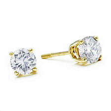14K YELLOW GOLD  1/2CT  NATURAL DIAMOND STUD EARRINGS