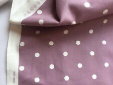 Lilac spotted cotton fabric. Curtain upholstery fabric 100% cotton.