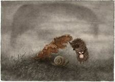 Hedgehog in the Fog Y.Norstein's/Norshteyn hand-signed Giclée (Hedgehog & Snail)