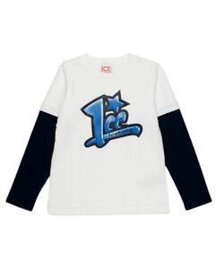 Iceberg Jungen Langarmshirt dunkelblau Pullover Hoodie Sweat Shirt Pulli NP €75