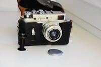 RARE JUBILEE 50 years SOVIET Zorki-4 Film Camera copy Leica w/s lens Industar-50