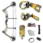 30-55 lb Black / Green / Camo Camouflage Archery Hunting Compound Bow 150 75 40
