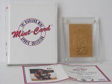 1985 TOPPS MARIO LEMIEUX BRONZE HOCKEY CARD - HIGHLAND MINT - #2861/5000!