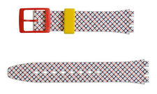 Original Swatch 17mm Silikon Armband Duet in Blue & Red AGZ298 Neuware