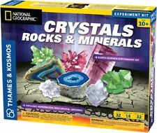 Earth Science Kids Experiment Kit, Home School Rock Cycle Minerals Crystals Toys