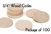 "LOT of 100 ~ 3/4"" Inch Wood Circle ~ Craft Disk ~ Pendants & Magnets ~ by PLD"