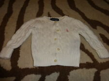 RALPH LAUREN 9M 9 MONTHS IVORY CABLE KNIT SWEATER