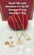 GoldNMore: 18K Gold Jewelry Set Necklace and Pendant with Earrings