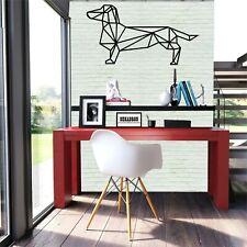 Metal Wall Art, Dachshund Art, Metal Dog Art, Geometric Design, Metal Wall Decor