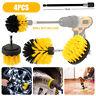 4x Car Wash Brush Hard Bristle Drill Detailing Cleaning Tools Kit Nylon Scrubber