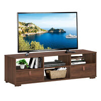 """TV Stand Entertainment Media Center Console for TV's up to 60"""" w/Drawers Walnut"""