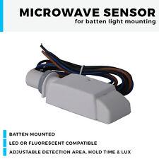 Batten Mounting LED Microwave sensor for LED or Fluorescent fittings PIR 20mm