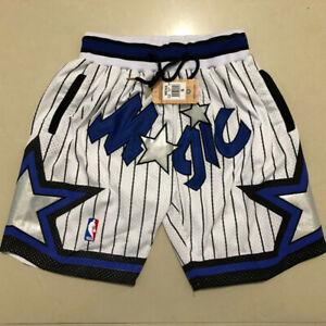 Vintage Orlando Magic White Basketball Shorts Men's Pants NWT stitching