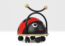 Ride on Ladybird Bug, Wooden Wheely Toy for 1 -3 Year olds by Beehive Toys