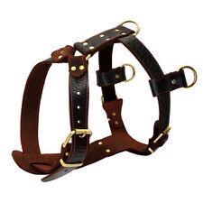 Leather Large Dog Harness Vest for Rottweiler Pitbull German Shepherd Bulldog