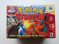 NEW Pokemon Stadium Nintendo 64 N64 Complete In Box CIB Game Transfer Pak Rare