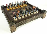 "American US Civil War Queens North vs South Chess Set 17"" Fortress Castle Board"