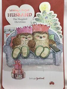 Beautiful Large Hallmark Country Companions Perfect  Husband  Christmas Card