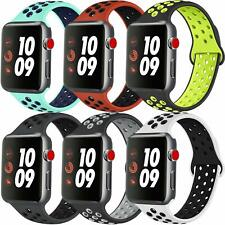 iBand for Apple Watch Strap 44MM 42MM 38MM 40MM, Soft Mesh Silicone Sport iwatch