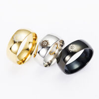 Hot Supernatural Dean Stainless Steel Band Ring Lovers Couple Gift US Size 6-12