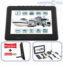 "MOTORHOME CARAVAN BOAT 12V 7"" Inch Portable LCD  Freeview TV 12 Volt USB PVR"