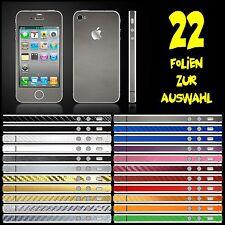 IPHONE 4S FOLIE SILBER GRAU MATT AUFKLEBER ( BUMPER COVER HÜLLE SKIN CASE