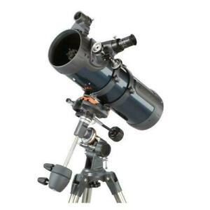 Celestron Teleskop ASTROMASTER 114 EQ MD Nachführmotorantrieb, Handyadapter+Buch