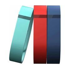 Genuine Fitbit Flex Accessory Wristbands Bracelets 3-Pack - Teal/Orange/Navy - L