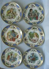Limoges Jegou Fairy Tale Decorative 9� Plates Premier Edition France 1983 - Six