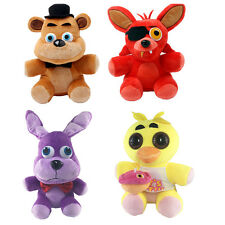 1 SET FNAF Five Nights at Freddy's Chica Bonnie Foxy Plush Doll Toy Gift 10''