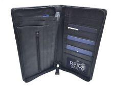 Prime Hide RFID Safe Black Leather Travel Planner Organiser