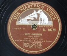 78rpm EDDIE FISHER white christmas / count your blessings instead of sheep